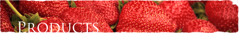 Strawberries with Products Label